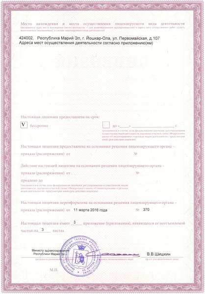 Обратная сторона Лицензии №2